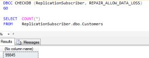 ReplicationSubscriber After Repair